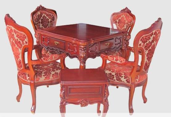 红典银叶树 木框麻将桌