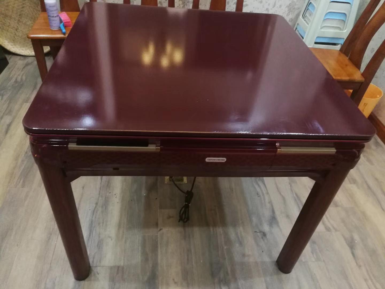 重庆餐桌机麻茶楼棋牌室酒店家用加强款大号餐桌4个脚麻将桌