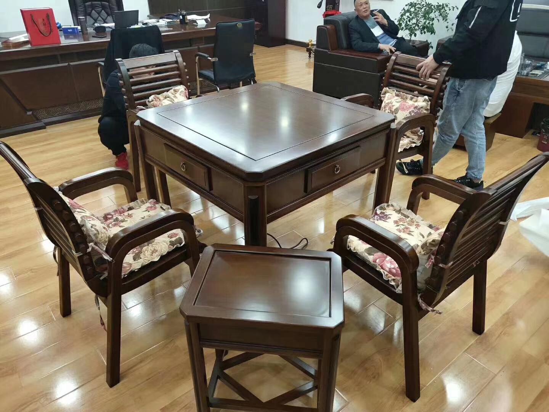 实木餐桌两用机麻餐桌