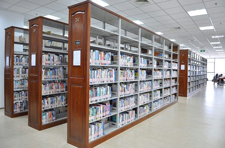 图书馆木侧板书架