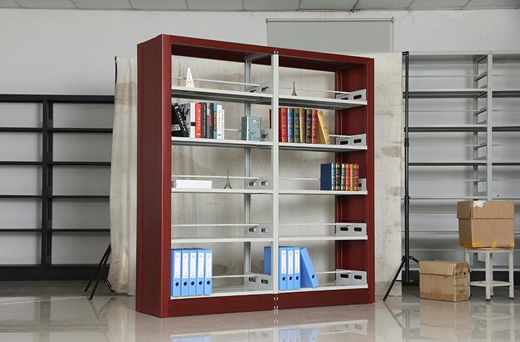 圖書館書架系列-鋼木結合書架