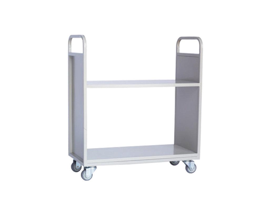 两层平板书车