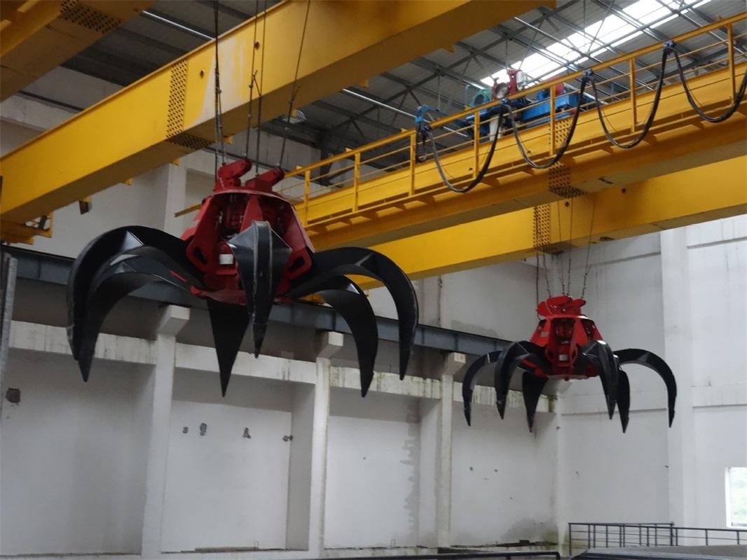 Bulk Coal Coke Sand Grab Bucket Overhead Crane