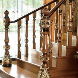 欧式红橡木实木楼梯