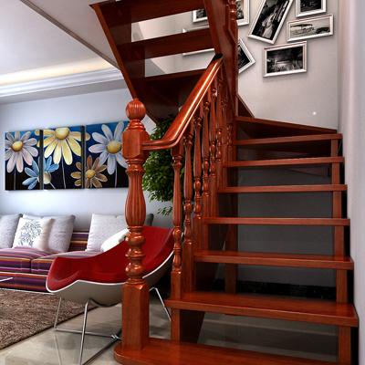 水曲柳实木楼梯