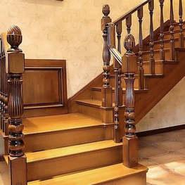 黑胡桃实木楼梯