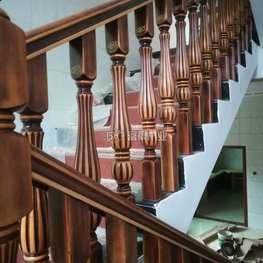 富豪楼梯扶手复古仿旧风格