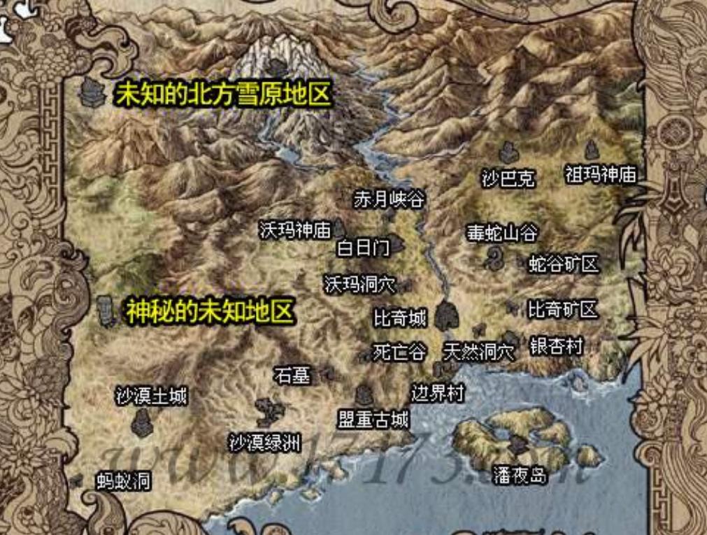 在传奇手游版中理应对地图进行等级划分区别开