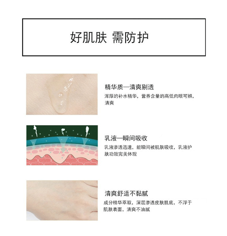 一件代發女士護膚精華乳液 滋潤控油補水低聚糖保濕乳液oem代加工