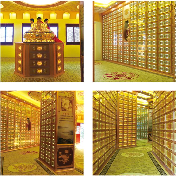 祠堂专用智能骨灰佛龛柜宗族公益性骨灰寄存架存放格位