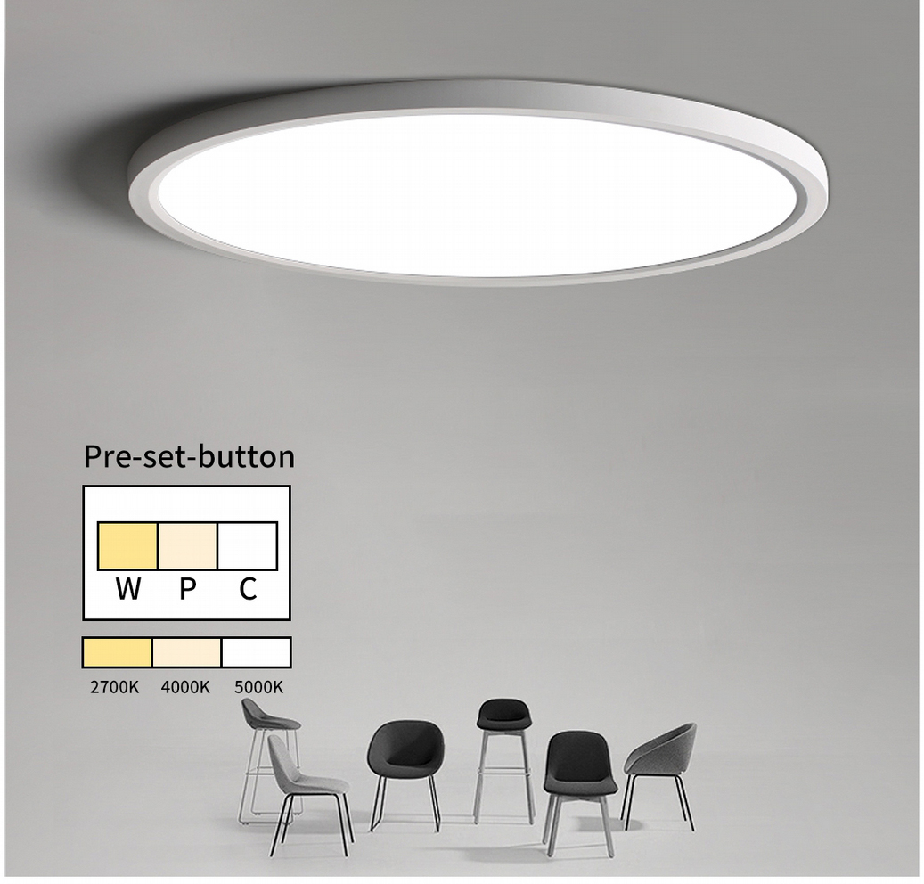 Tri-color changeable LED Surface ceiling light
