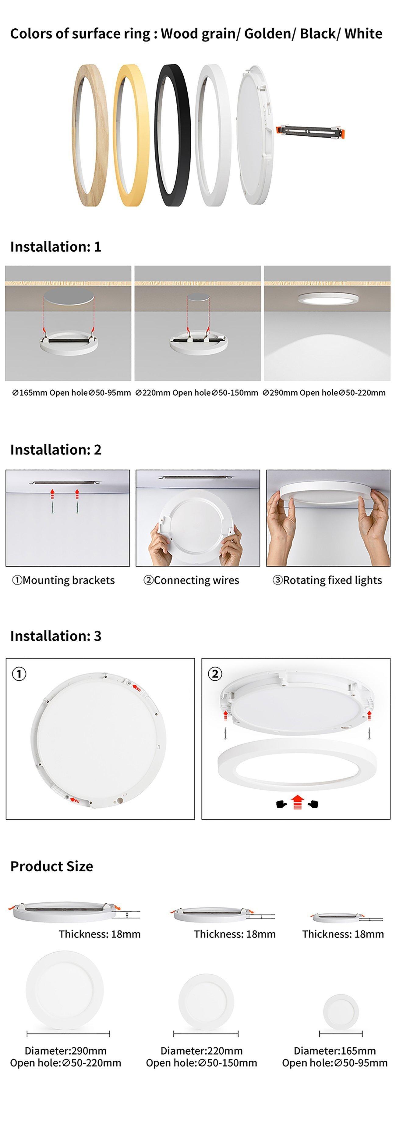 Multi Led panel light-3in1