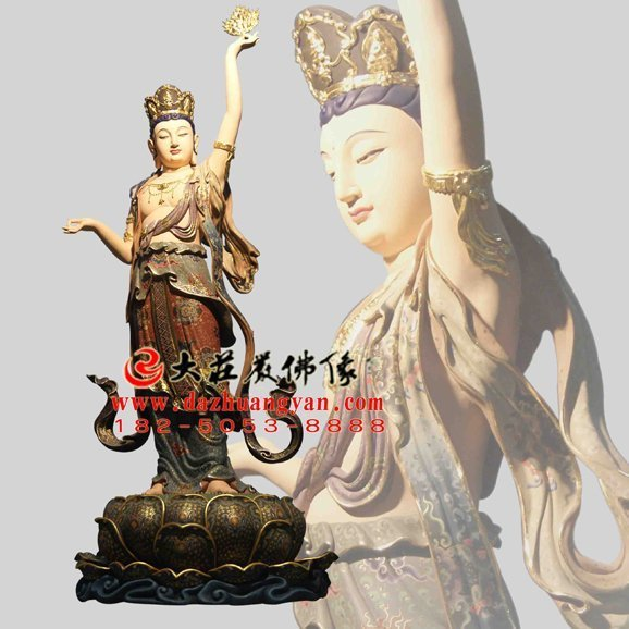 虚空藏菩萨铜佛像