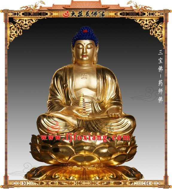 药师佛铜佛像