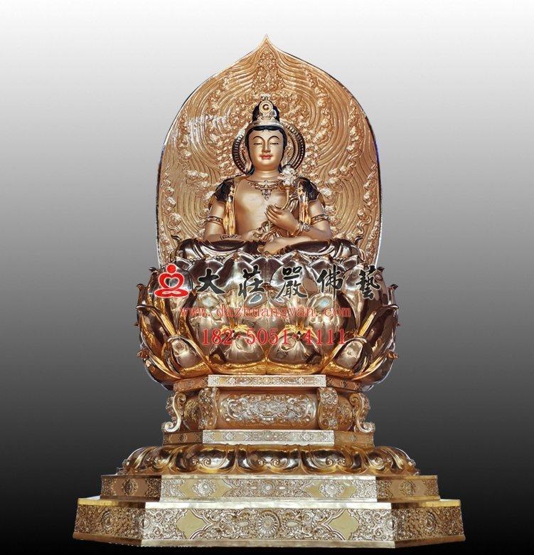 日光菩萨铜佛像