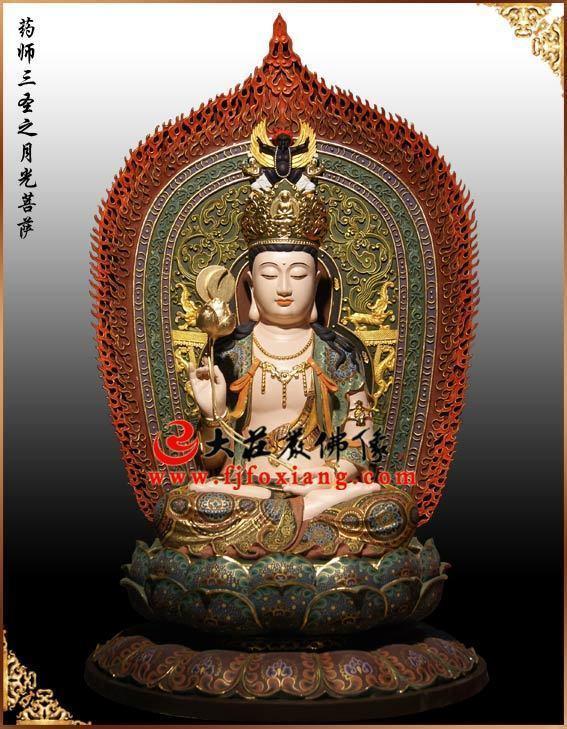 月光菩萨铜佛像