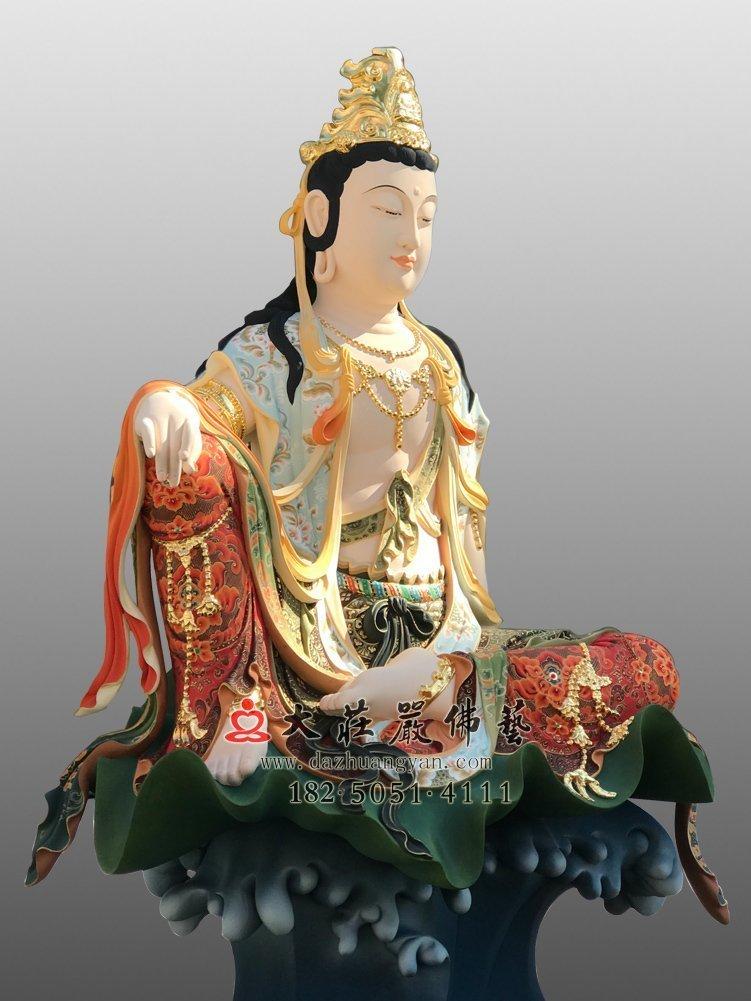 自在观音铜佛像