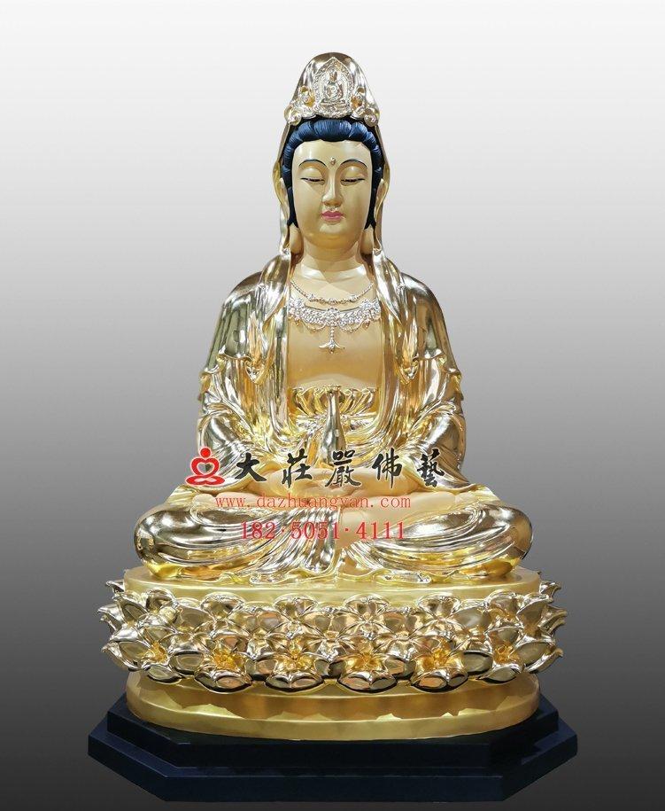 观音菩萨铜佛像