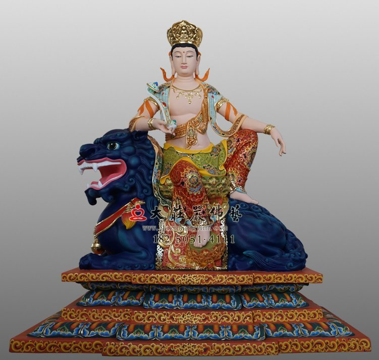 文殊菩萨铜佛像