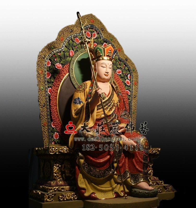 地藏王菩萨铜佛像