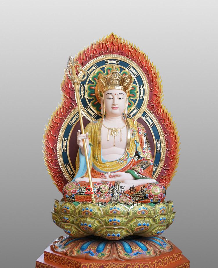 铜雕地藏王菩萨彩绘佛像