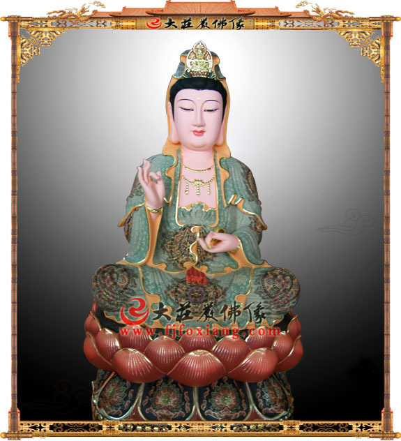 铜雕彩绘观音菩萨