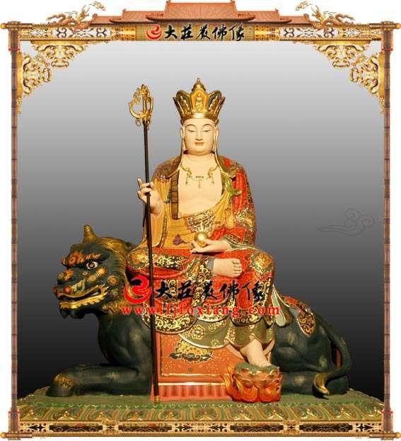 铜雕彩绘大愿地藏王菩萨
