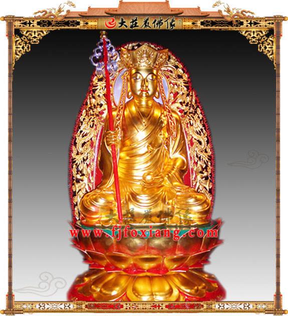 铜雕地藏菩萨贴金佛像