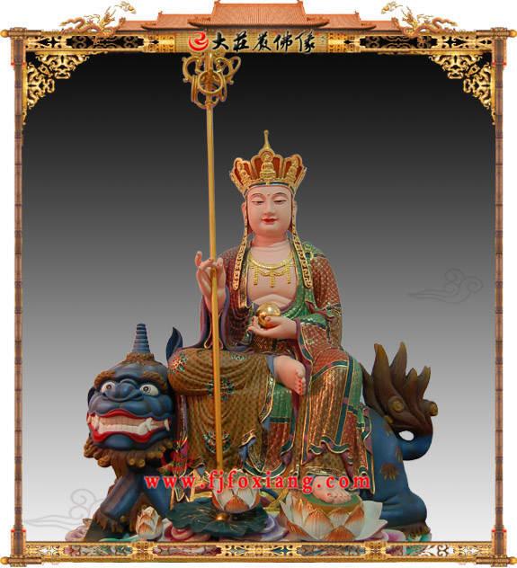 铜雕极彩地藏王菩萨