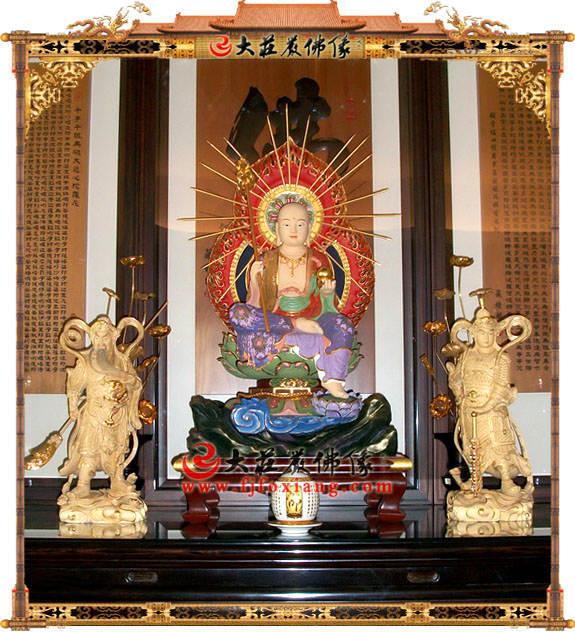 铜雕地藏王菩萨极彩塑像