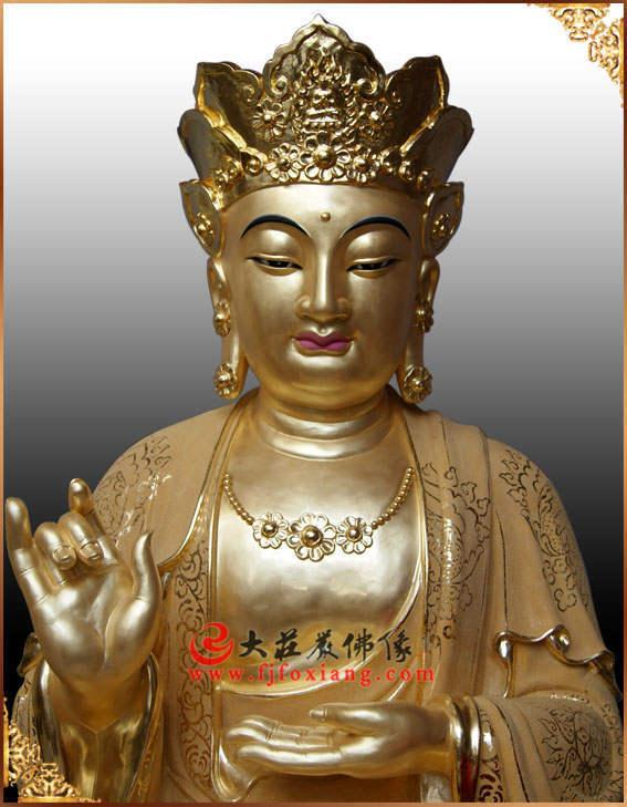 地藏王菩萨铜雕贴金佛像