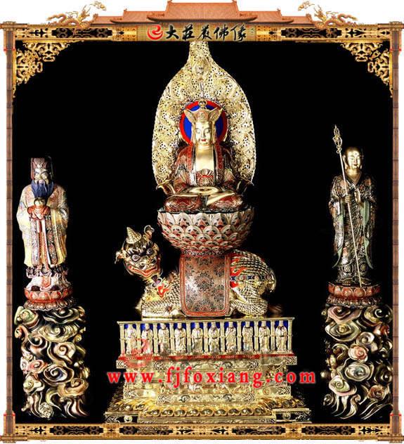 铜雕彩绘九华山地藏菩萨