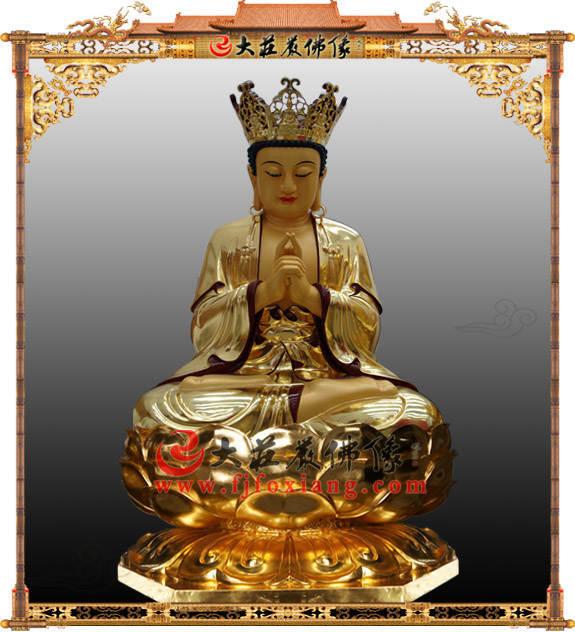 铜雕毗卢观音贴金佛像