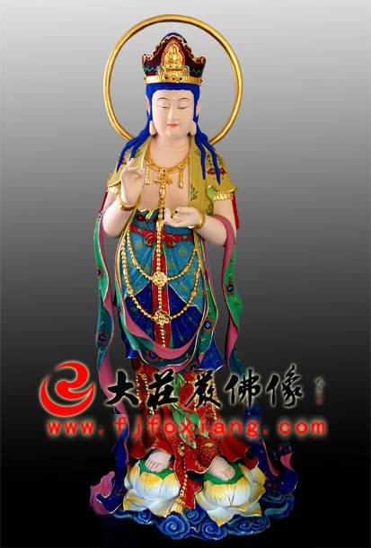 铜雕甘露观音彩绘像