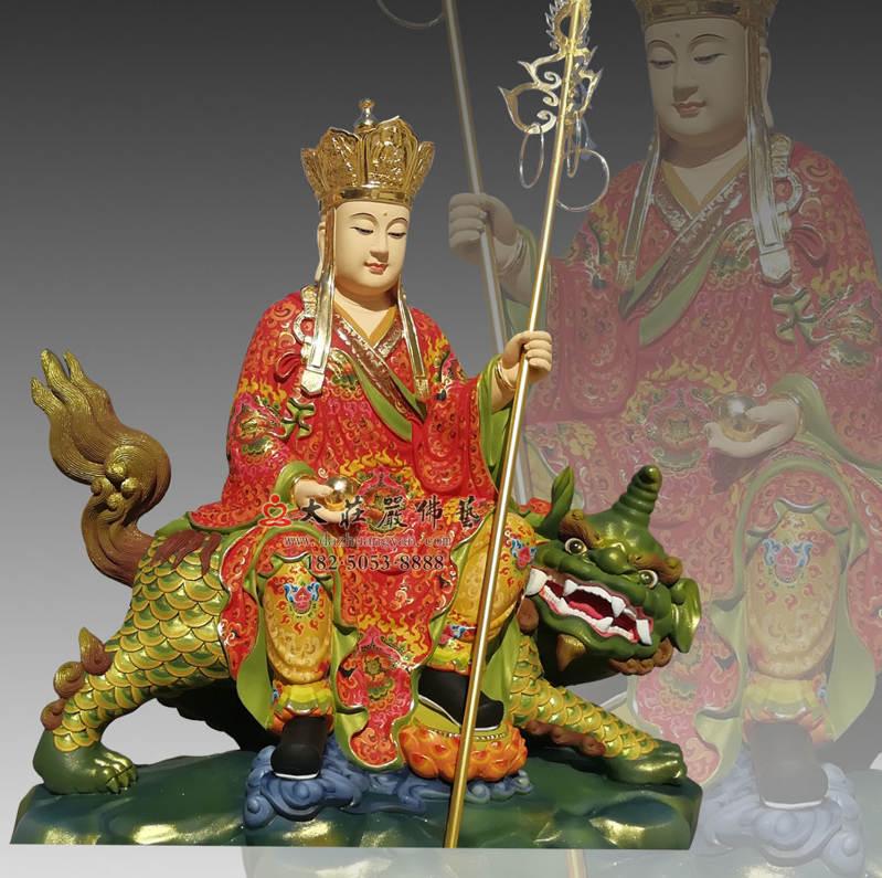 铜像彩绘描金地藏王菩萨侧面佛像