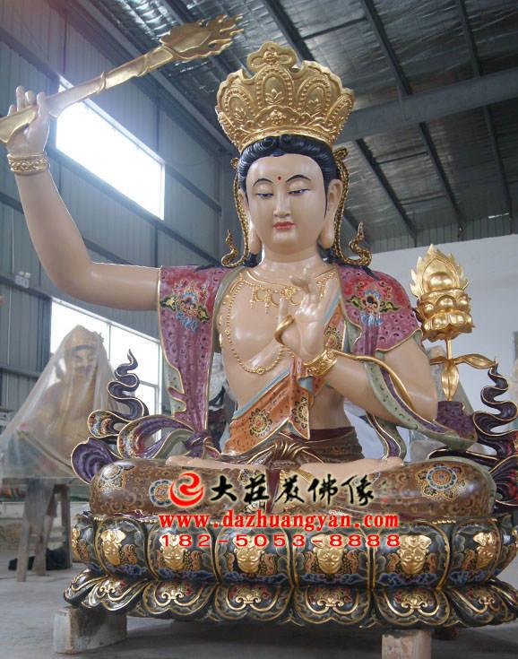 铜像四大菩萨之文殊菩萨佛像左侧照