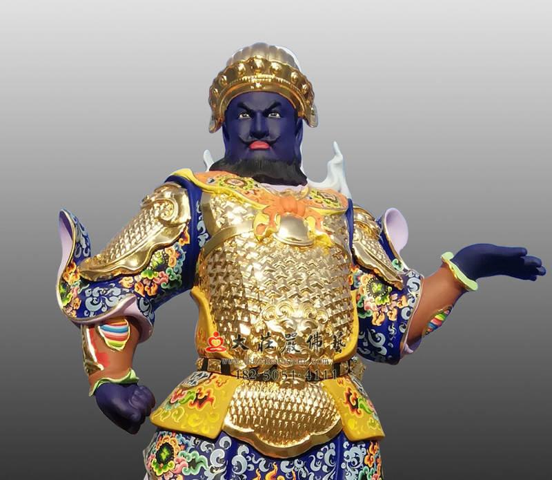 铜雕甲戌神将展子江正面近照