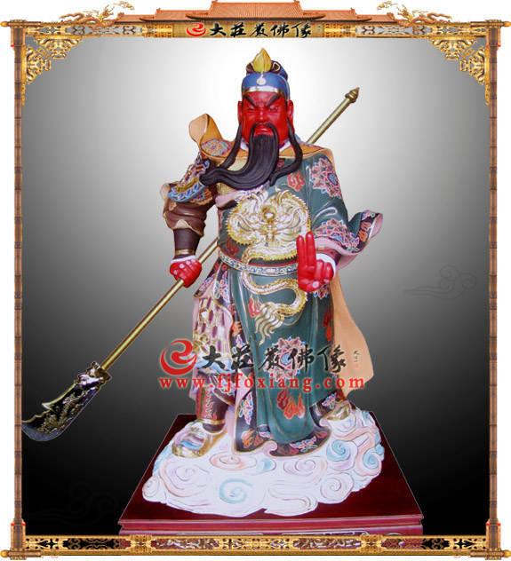铜雕伽蓝菩萨彩绘神像