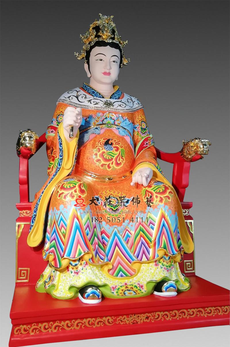 铜像江夫人侧面彩绘像