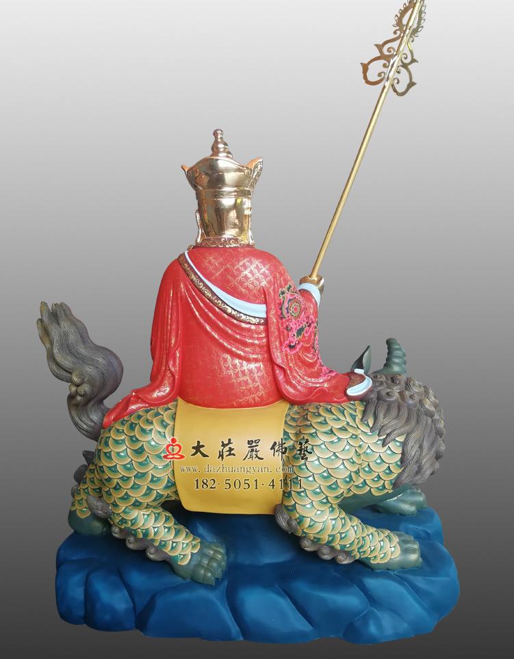 铜像地藏菩萨彩绘塑像