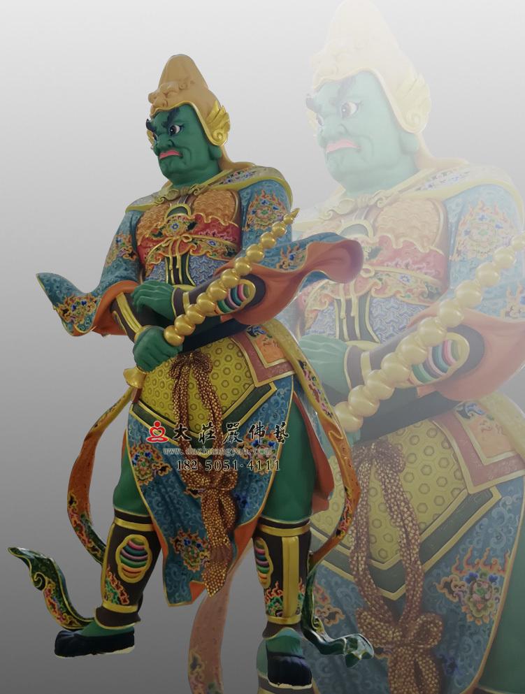 铜像四大天王八大大眷属彩绘塑像