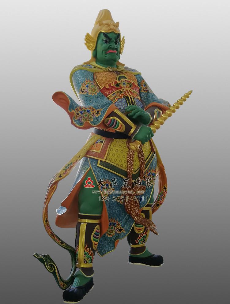 铜像彩绘四大天王八大大眷属塑像