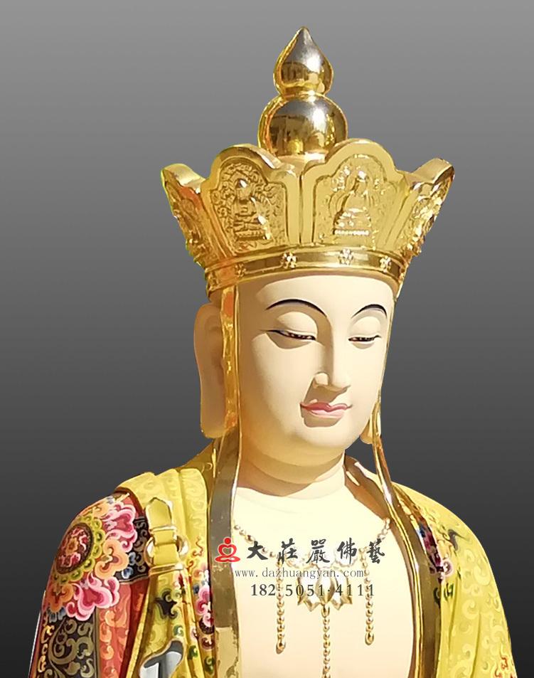 地藏王菩萨侧面近照
