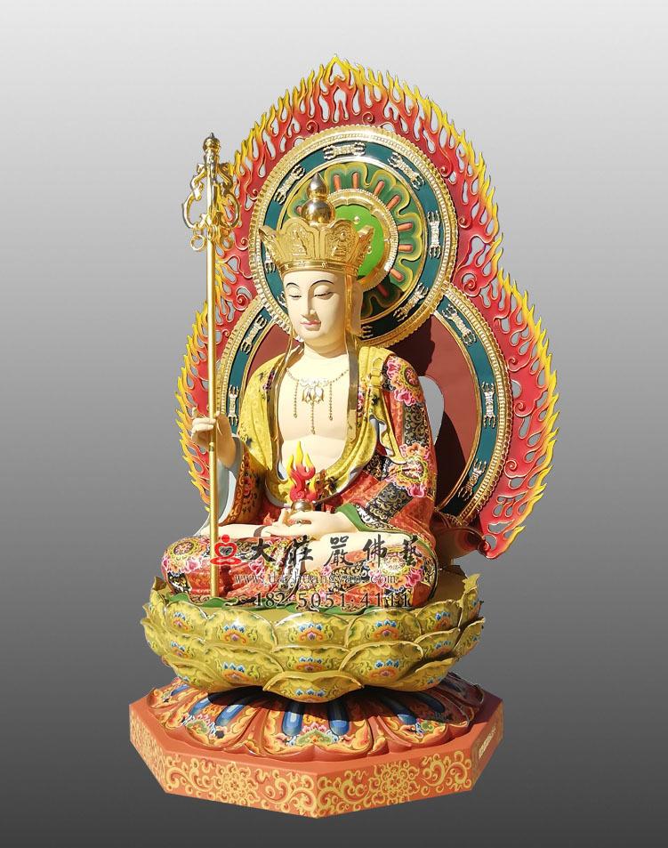 地藏王菩萨侧面彩绘佛像
