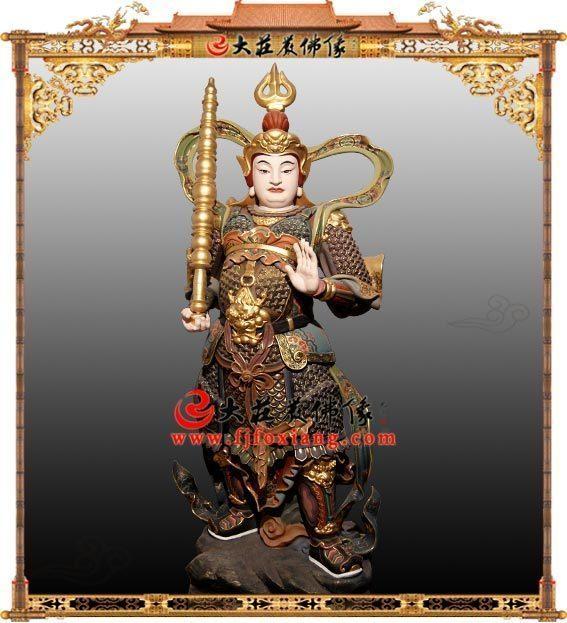铜雕韦驮菩萨彩绘佛像