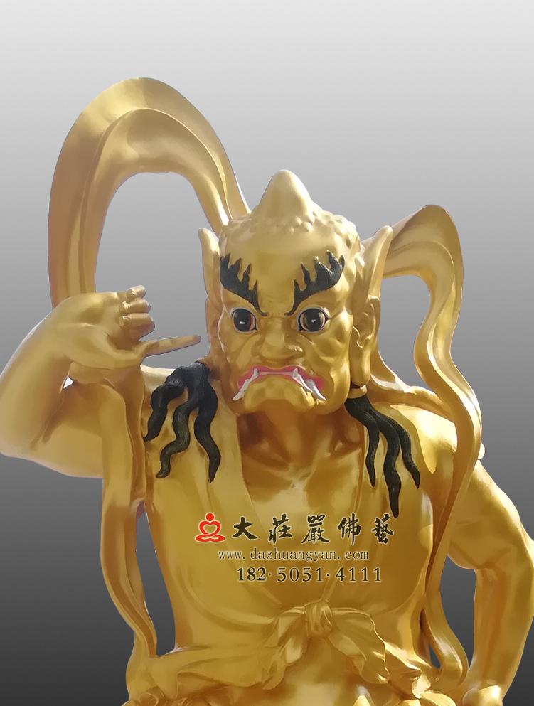铜像铜雕魁星踢斗神像