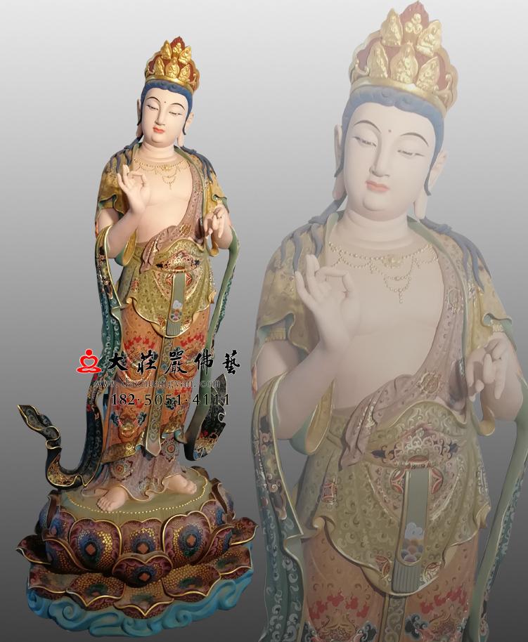 铜雕八大菩萨之金刚手菩萨彩绘佛像