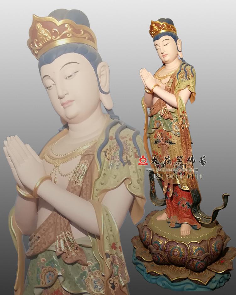 铜像八大菩萨-观世音菩萨彩绘佛像