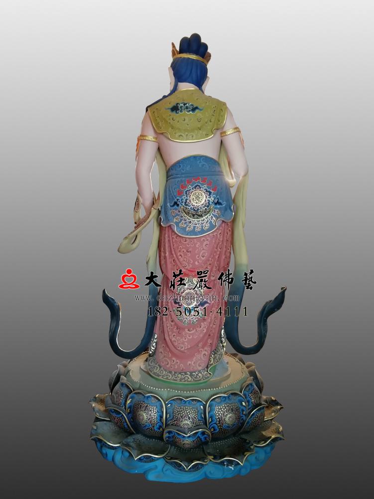 铜像八大菩萨-普贤菩萨背部彩绘佛像