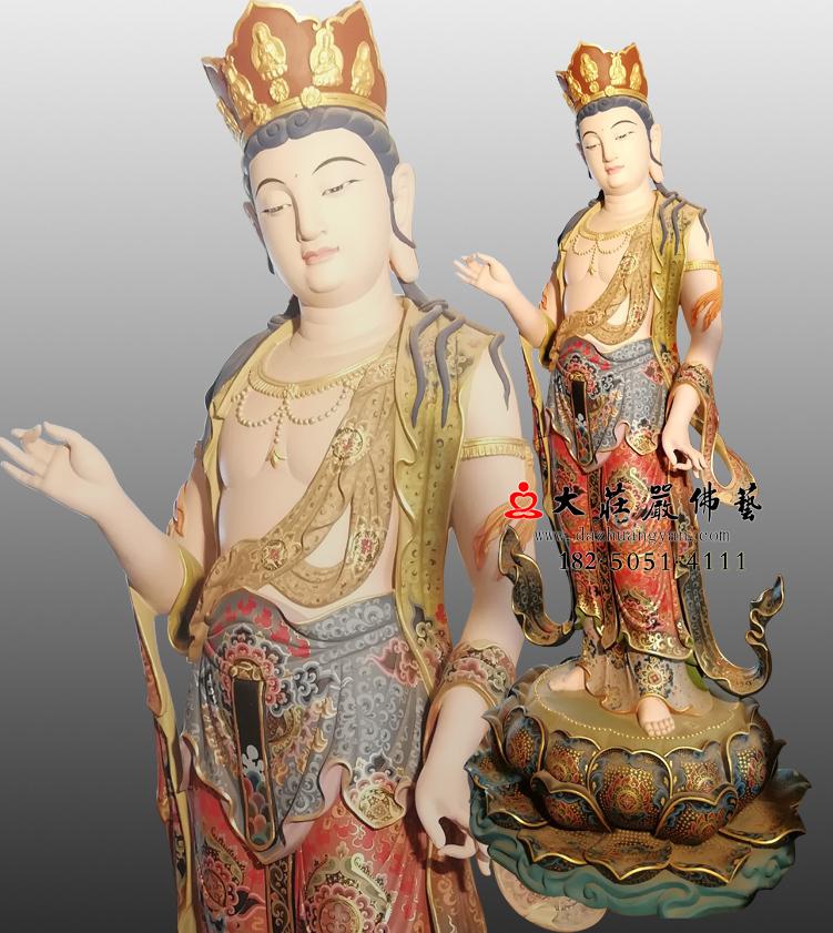 铜像八大菩萨-普贤菩萨侧面佛像